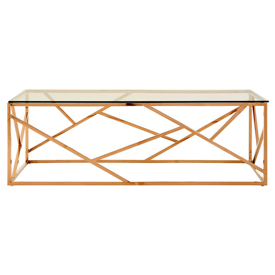 Alluras Glass Coffee Table In Gold Geometric Frame_2