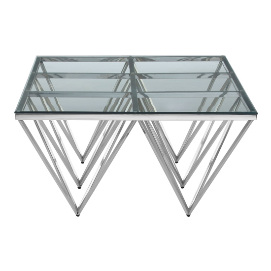 Alluras Glass Coffee Table With Silver Spike Triangles Base_3