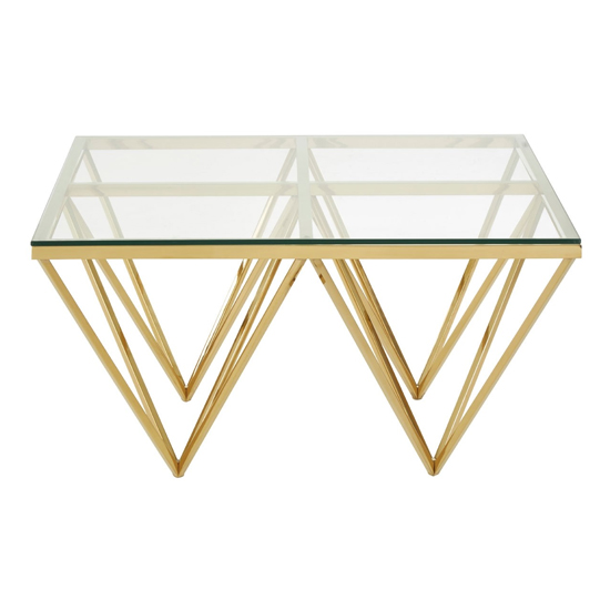 Alluras Glass Small Coffee Table With Gold Spike Triangles Base_2