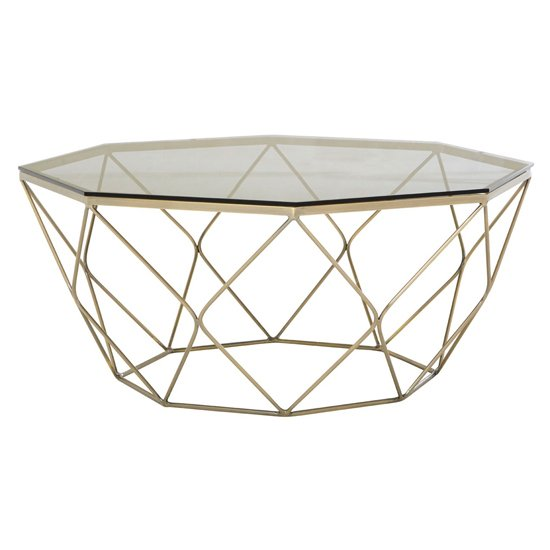 Allure Coffee Table With Brushed Nickel Base