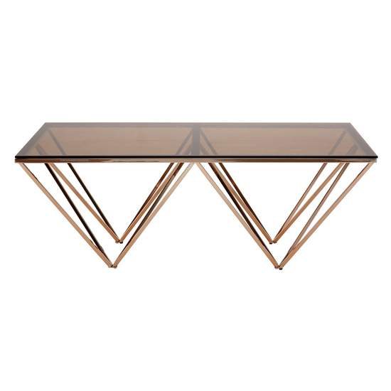 Alluras Coffee Table With Champagne Metal Legs