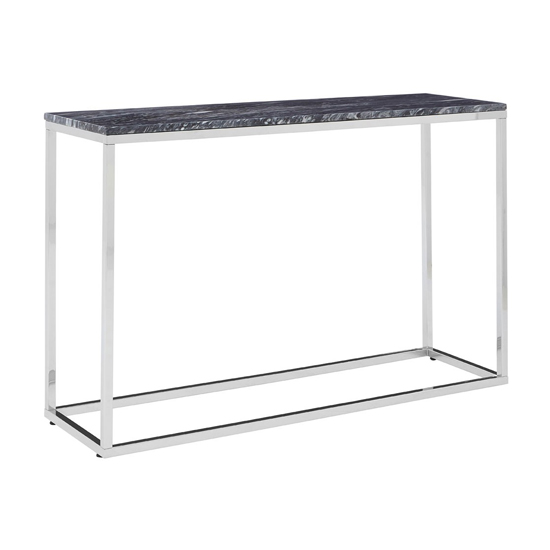 Alluras Console Table With Black Marble Top