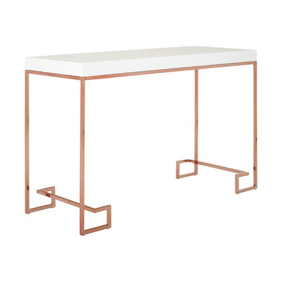 Alluras Console Table With Rose Gold Legs     _2