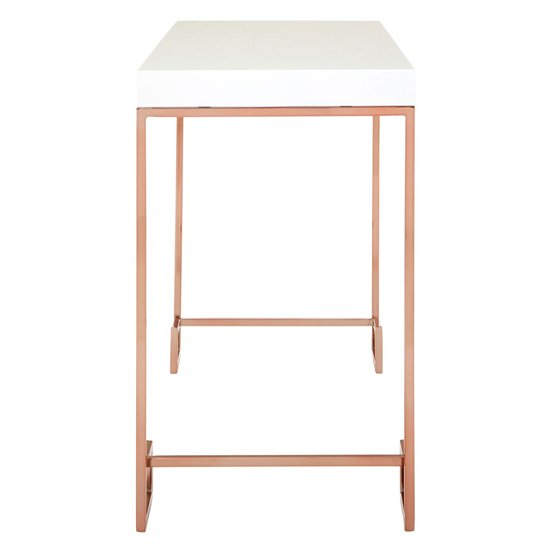 Alluras Console Table With Rose Gold Legs     _3