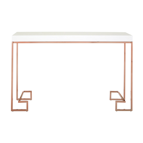 Alluras Console Table With Rose Gold Legs     _1