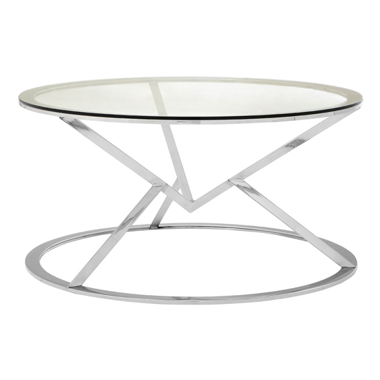 Alluras Corseted Round End Table In Silver