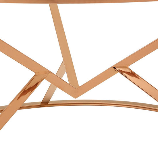 Alluras Corseted Round Glass Coffee Table In Rose Gold   _3