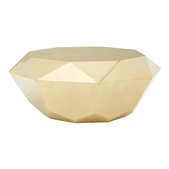 Allure Diamond Cut Coffee Table In Champagne