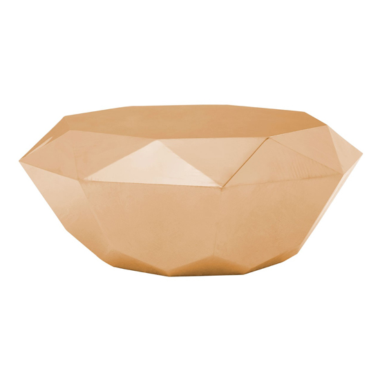 Allure Diamond Cut Coffee Table In Rose Gold_1