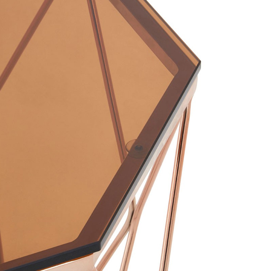 Alluras End Table With Rose Gold Base     _3