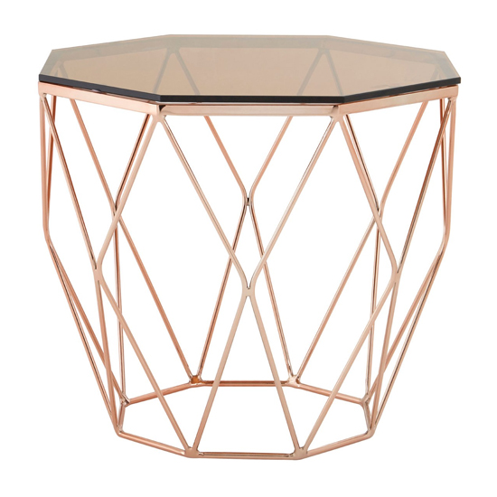 Alluras End Table With Rose Gold Base