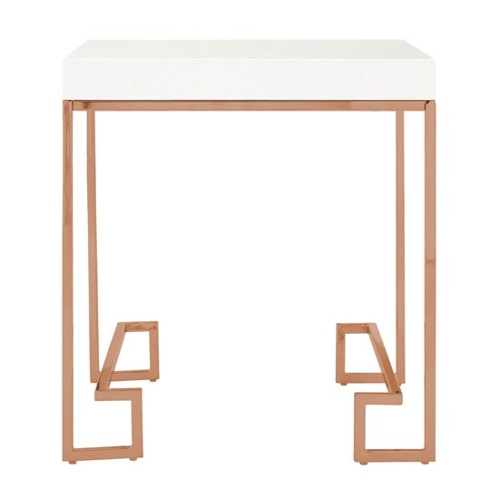 Alluras End Table In Rose Gold
