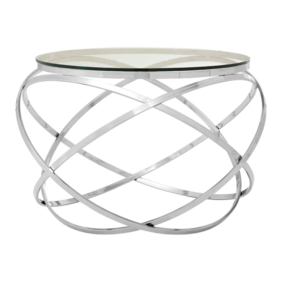 Alluras End Table In Silver With Clear Glass Top   _2