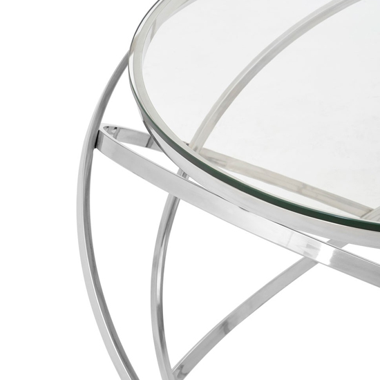 Alluras End Table In Silver With Clear Glass Top   _3
