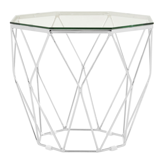 Alluras Glass End Table In Chrome Base     _2