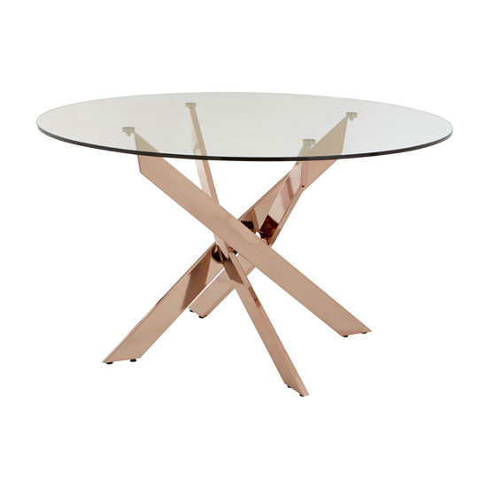 Alluras Intersected Dining Table In Rose Gold     _2