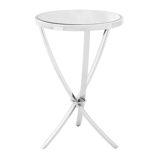 Alluras Pinched Side Table In Chrome With Mirrored Top_2