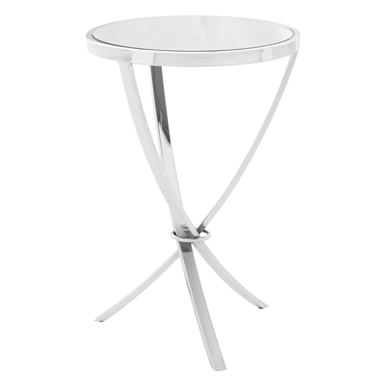 Alluras Pinched Side Table In Chrome With Mirrored Top_1