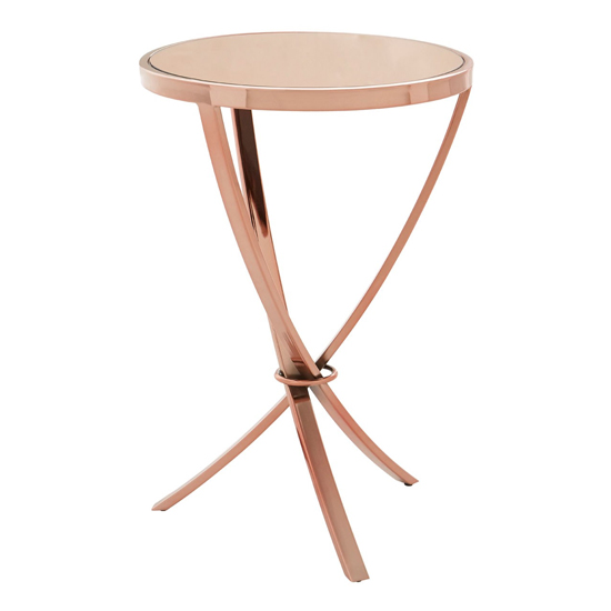 Alluras Pinched Side Table In Rose Gold