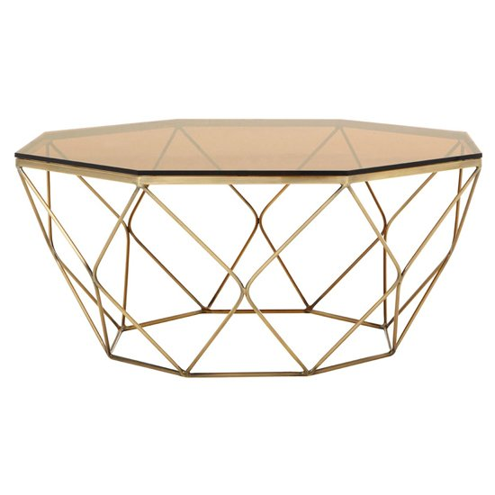 Alluras Polygonal Coffee Table In Bronze