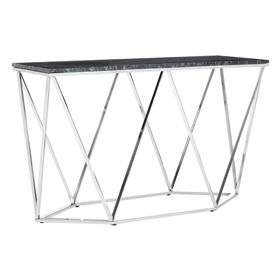Alluras Rectangular Console Table With Black Marble Top    _2