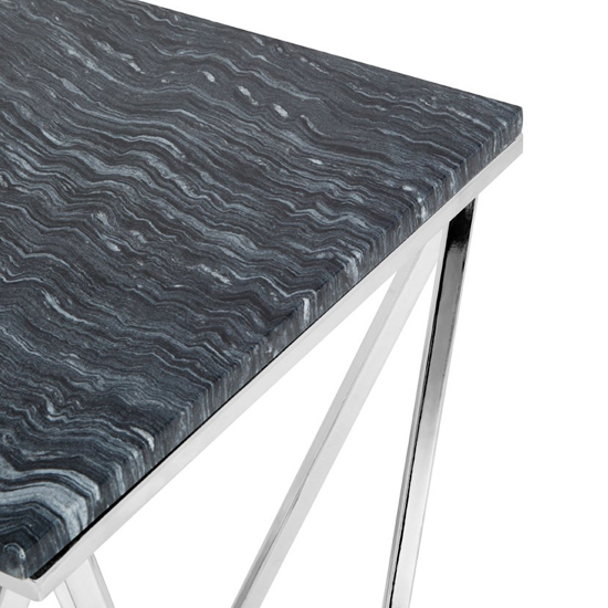 Alluras Rectangular Console Table With Black Marble Top    _4