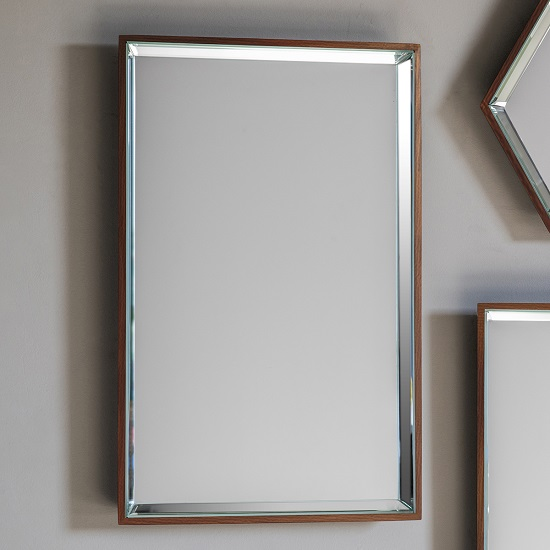 Allure Wall Mirror Rectagular In Copper With Wooden Frame