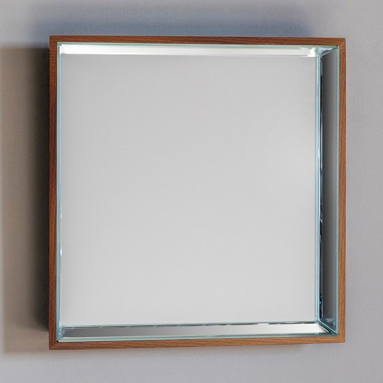 Allure Wall Mirror Square In Copper With Wooden Frame