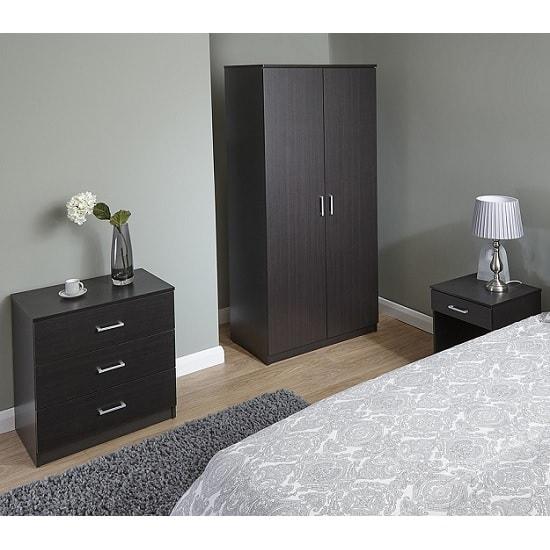 Almandite Trio Bedroom Furniture Set In Espresso