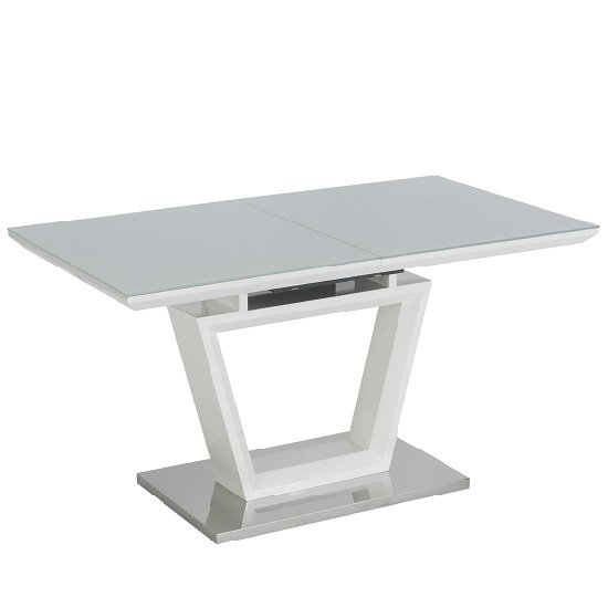 Almera Glass Extending Dining Table In White And Grey Gloss_2