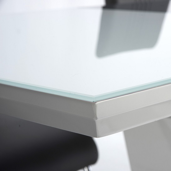 Almera Glass Extending Dining Table In White And Grey Gloss_3