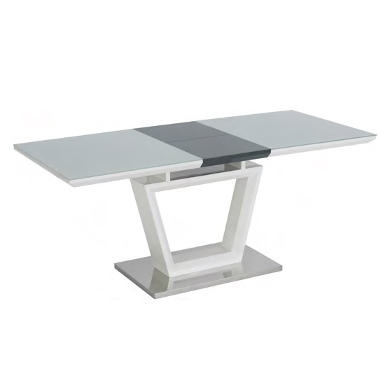 Almera Glass Extending Dining Table In White And Grey Gloss_1