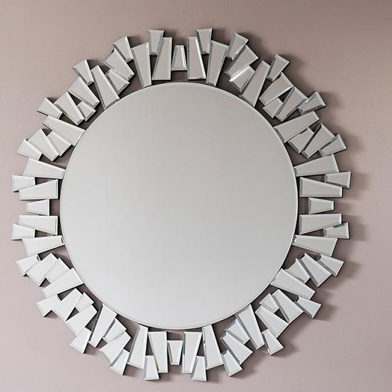 Almera Modern Wall Mirror Round In Clear