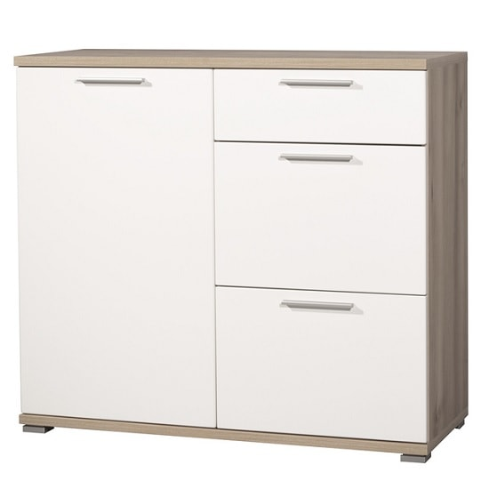 Almera Chest Of Drawers In Noble Beech And White High Gloss_2