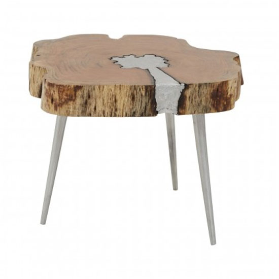 Almory Wooden Coffee Table In Natural And Silver_2