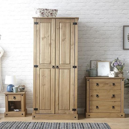 Alonza Wooden Bedroom Furniture Set In Solid Pine