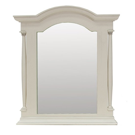 View Alonzo wooden dressing table mirror in antique white