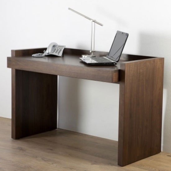 Lyndon Home Office Desk In Walnut Veneer 18847 Furniture In