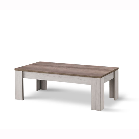 Alpina Coffee Table Rectangular In Oak And Distressed Effect Top_1