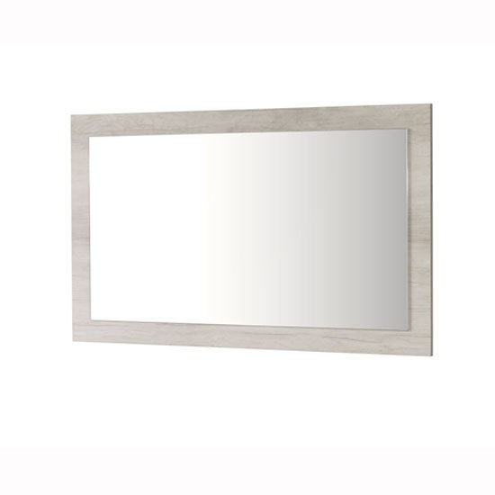 Alpina Wooden Wall Mirror Rectangular In Oak