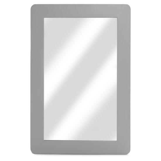 Hematic Wall Bedroom Mirror In Grey Frame_1