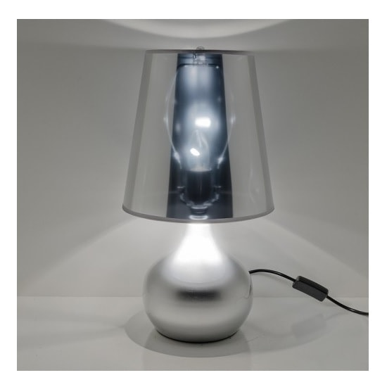 Altavilla Modern Table Lamp In Silver