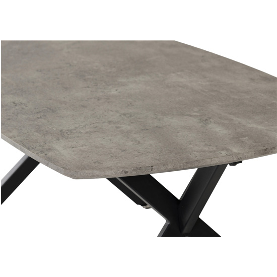 Alterf Oval Coffee Table In Concrete Effect And Black_4