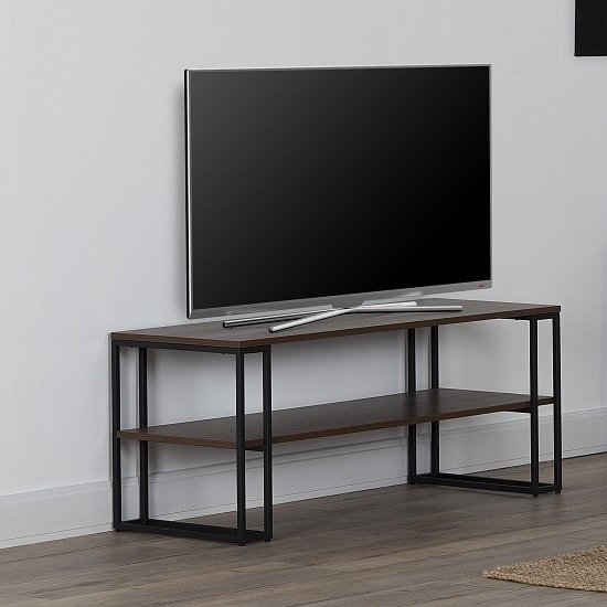 Altino TV Stand Or Coffee Table In Walnut With Metal Frame