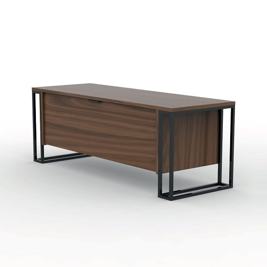 Altino Contemporary TV Stand In Walnut With Metal Frame