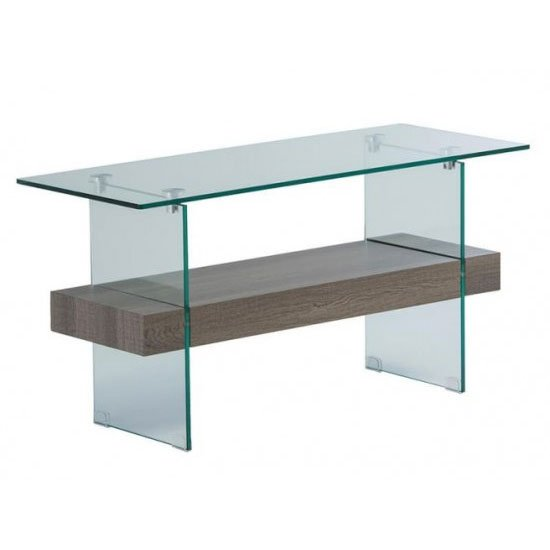 Alto Glass TV Unit In Grey Oak