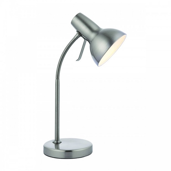 Amalfi USB Table Lamp In Nickel Finish