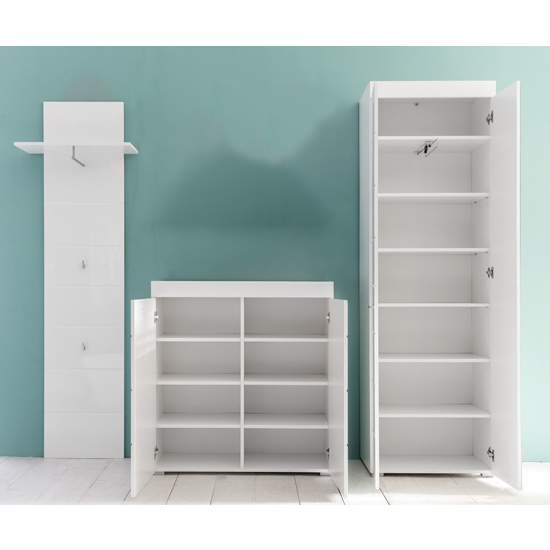 Amanda Hallway Furniture Set In White Gloss Without Mirror_2