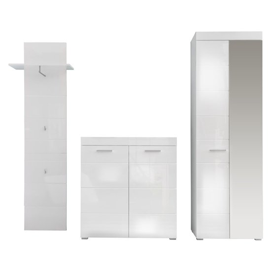 Amanda Hallway Furniture Set In White Gloss Without Mirror_3