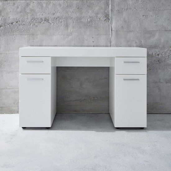 Amanda Wooden Dressing Table In White High Gloss_1